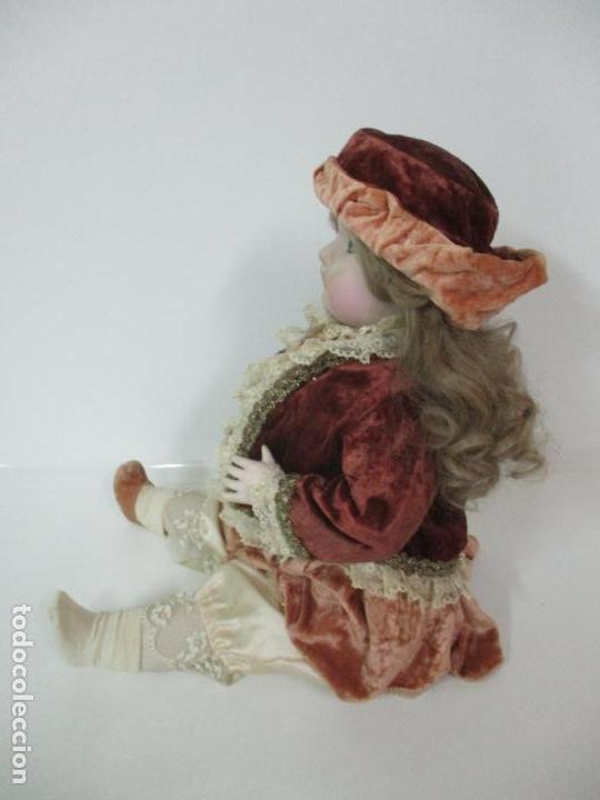 Muñecas Españolas Modernas: Bonita Muñeca Ramón Ingles - Porcelana Biscuit, Cuerpo Cartón Piedra - Cabello Natural -70 cm Altura - Foto 18 - 154918002
