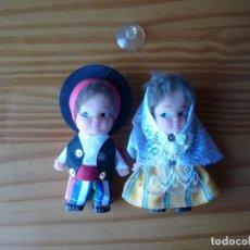 Muñecas Españolas Modernas: PAREJA DE MUÑECOS CON TRAJE REGIONAL - 10 CM. Lote 155414770