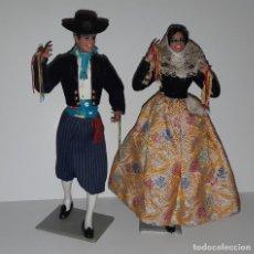 Muñecas Españolas Modernas: MUÑECAS MARÍN DE CHICLANA PAREJA MALLORQUINA REGIONAL. Lote 155504070