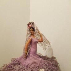 Muñecas Españolas Modernas: MUÑECA MARIN LOLA MONTES 27 CM FLAMENCA SEVILLANA. Lote 156912278