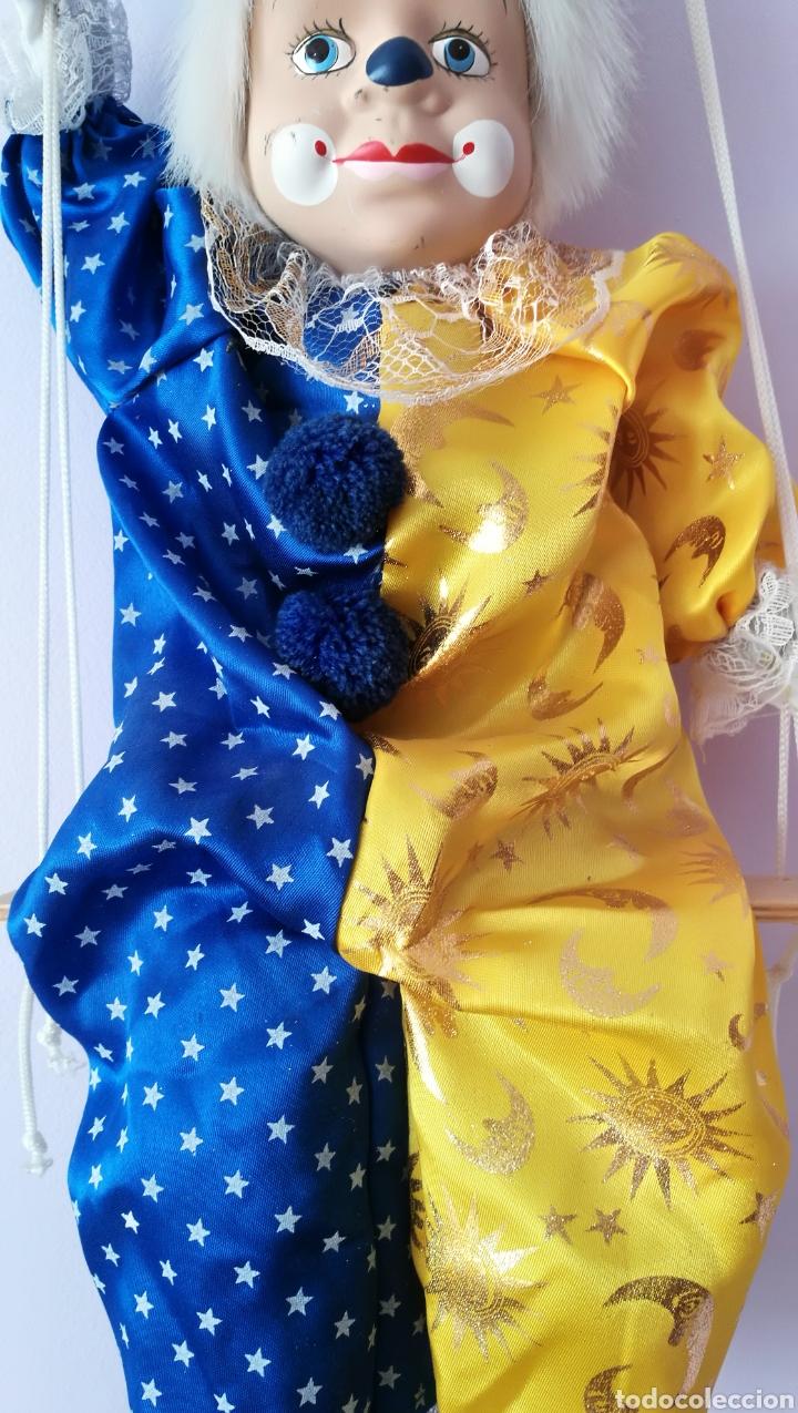 Muñecas Españolas Modernas: Gran Títere payaso marioneta arlequín - Foto 6 - 158275372