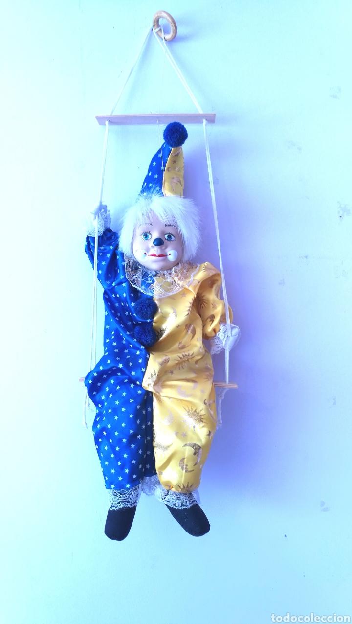 Muñecas Españolas Modernas: Gran Títere payaso marioneta arlequín - Foto 7 - 158275372