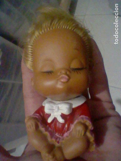 MUECA MUÑECA PRESUMIDA ANTIGUA GOMA PELO RUBIO MADE JAPAN VINTAGE RETRO (Juguetes - Otras Muñecas Españolas Modernas)