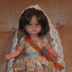 Muñecas Españolas Modernas: MUÑECA ALFONSO,VESTIDA DE VALENCIANA FALLERA,PRINCIPIO DE LOS AÑOS 60. Lote 165807694
