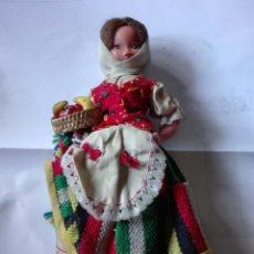 Muñecas Españolas Modernas: MUÑECA CON TRAJE REGIONAL. MARCA BEIBI AÑOS 60. Lote 167563061