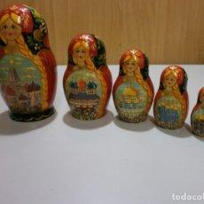 Muñecas Españolas Modernas: PRECIOSA MATRIUSKA DE MADERA PINTADA A MANO. Lote 170857680