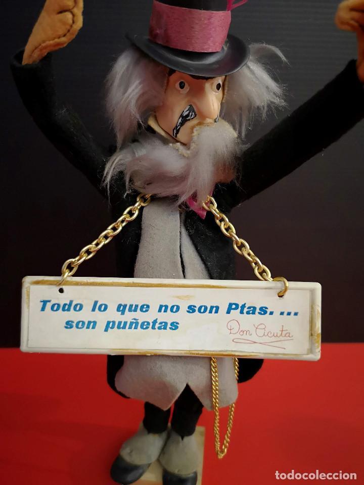 Muñecas Españolas Modernas: muñeco Don Cicuta Un Dos Tres programa TV en fieltro y cabeza plástico años 80 - Foto 4 - 171103929