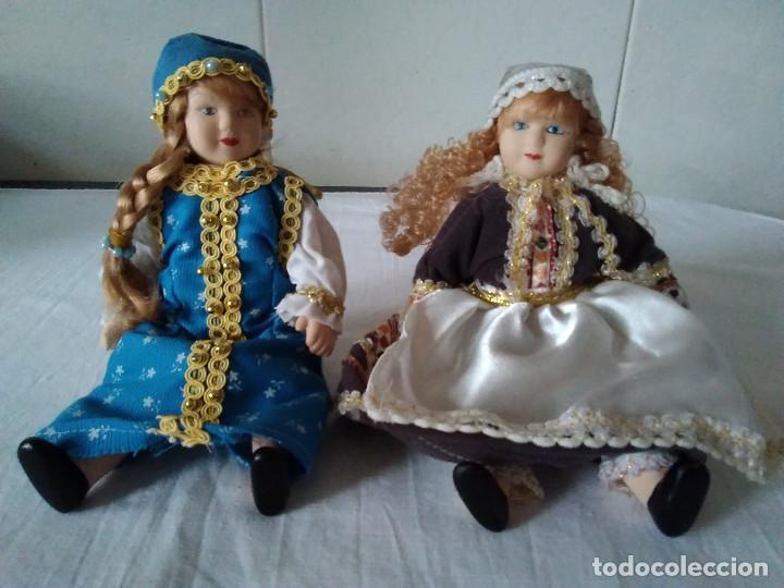 Muñecas Españolas Modernas: 9-DOS MUÑECAS EN PORCELANA CON TRAJE REGIONAL, ARTICULADAS - Foto 2 - 171169828