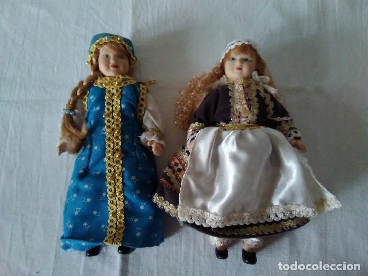 Muñecas Españolas Modernas: 9-DOS MUÑECAS EN PORCELANA CON TRAJE REGIONAL, ARTICULADAS - Foto 3 - 171169828