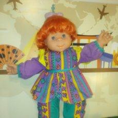 Muñecas Españolas Modernas: PRECIOSA MUÑECA POCAS PECAS,DE FEBER,AÑO 1992,DE GRAN TAMAÑO. Lote 171544888