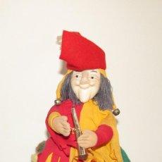 Muñecas Españolas Modernas: EL FLAUTISTA DE HAMELÍN - MUÑECO DOBLE MUY GRACIOSO. Lote 172076432