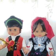 Muñecas Españolas Modernas: PAREJA DE GALLEGOS. Lote 173880988