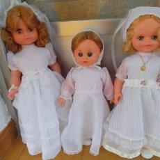 Muñecas Españolas Modernas: MUÑECAS DE COMUNION ANTIGUAS--LOTE DE 3. Lote 174253638