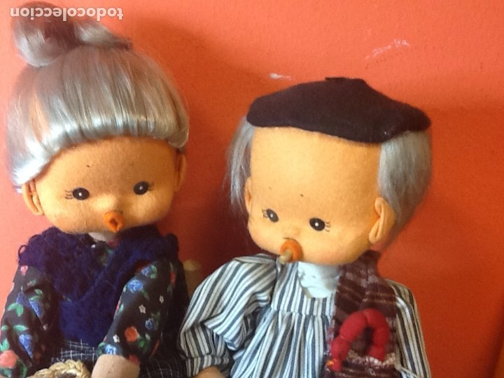 Muñecas Españolas Modernas: pareja de muñecos de fieltro años 70 - Foto 2 - 175221480