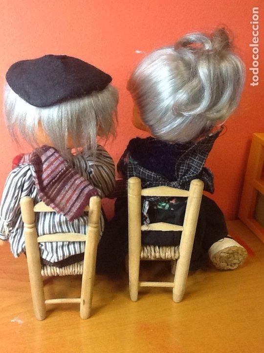 Muñecas Españolas Modernas: pareja de muñecos de fieltro años 70 - Foto 3 - 175221480