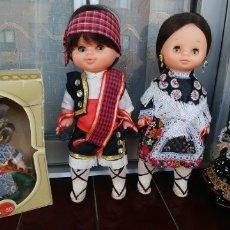 Muñecas Españolas Modernas: MUÑECAS REGIONALES ANTIGUAS-LOTE DE 4. Lote 175351008