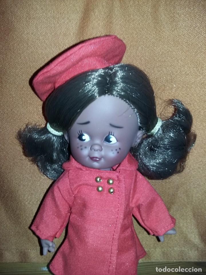 Muñecas Españolas Modernas: graciosa muñeca juanita negra o mulata de colección parecida a cuca nueva sin uso onil spain - Foto 2 - 175504852