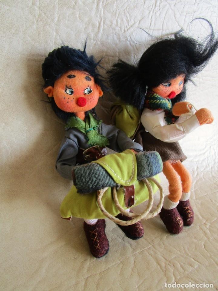 Muñecas Españolas Modernas: pareja muñecos tela y alambre pequeños hechos manualmente - Foto 2 - 167471524