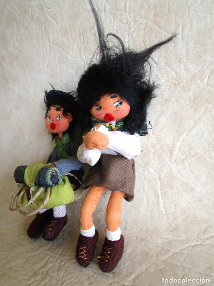 Muñecas Españolas Modernas: pareja muñecos tela y alambre pequeños hechos manualmente - Foto 3 - 167471524