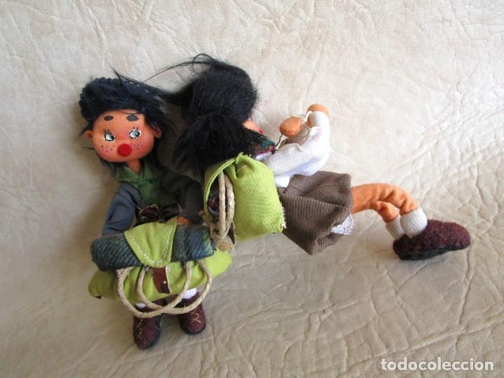 Muñecas Españolas Modernas: pareja muñecos tela y alambre pequeños hechos manualmente - Foto 4 - 167471524