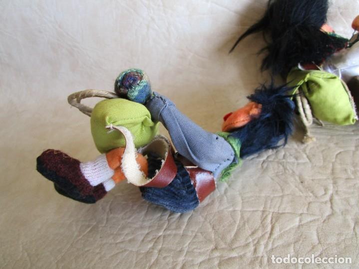 Muñecas Españolas Modernas: pareja muñecos tela y alambre pequeños hechos manualmente - Foto 5 - 167471524