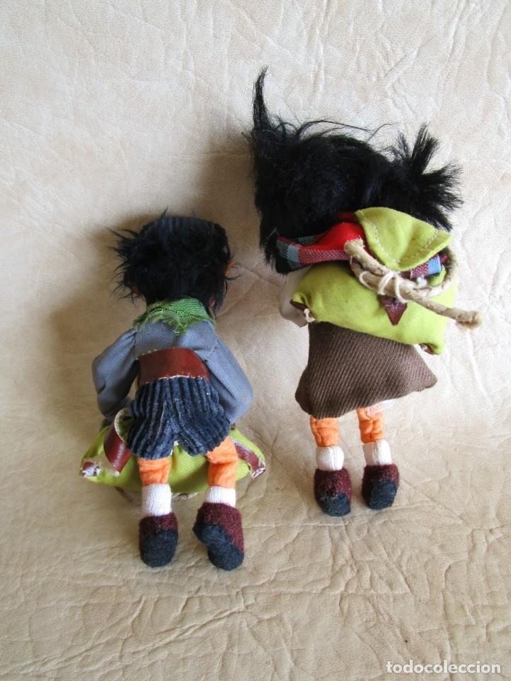 Muñecas Españolas Modernas: pareja muñecos tela y alambre pequeños hechos manualmente - Foto 6 - 167471524