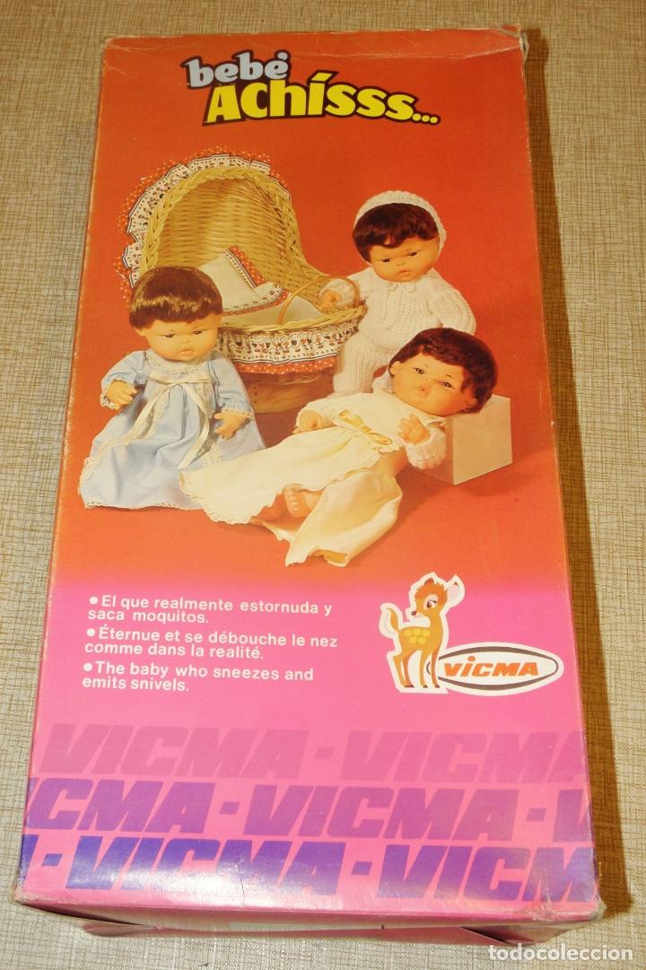 Muñecas Españolas Modernas: MUÑECO-BEBE ACHÍSSS DE VICMA. MADE IN SPAIN. AÑOS 70. - Foto 4 - 177069233