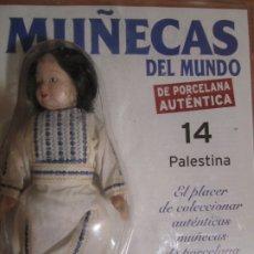 Muñecas Españolas Modernas: MUÑECA DE PORCELANA COLECCION MUÑECAS DEL MUNDO PALESTINA Nº14 RBA NUEVA PRECINTADO. Lote 177307964