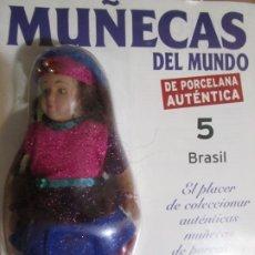 Muñecas Españolas Modernas: MUÑECA DE PORCELANA COLECCION MUÑECAS DEL MUNDO BRASIL Nº5 RBA NUEVA PRECINTADO. Lote 177308347