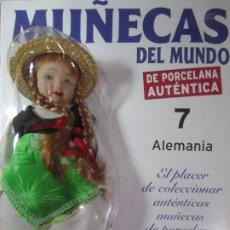 Muñecas Españolas Modernas: MUÑECA DE PORCELANA COLECCION MUÑECAS DEL MUNDO ALEMANIA Nº7 RBA NUEVA PRECINTADO. Lote 177332665
