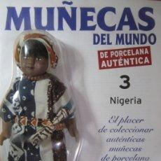 Muñecas Españolas Modernas: MUÑECA DE PORCELANA COLECCION MUÑECAS DEL MUNDO NIGERIA Nº3 RBA NUEVA PRECINTADO. Lote 177332749