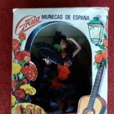 Muñecas Españolas Modernas: MUÑECAS DE ESPAÑA MUJER FLAMENCA - VINTAGE AÑOS 60 / 70 - MARCA GRAIN - MODELO FLORA. Lote 234277125