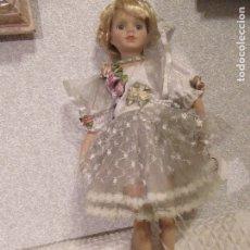 Muñecas Españolas Modernas: MUÑECA NINOTCHKA DE PORCELANA Y CUERPO DE TELA MIDE 38 CMS.. Lote 182294528