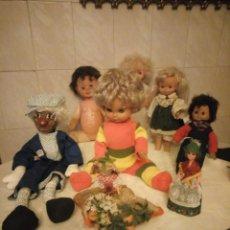 Muñecas Españolas Modernas: LOTE DE MUÑECAS ANTIGUAS.ESPAÑOLAS Y EXTRANJERAS. Lote 183527140
