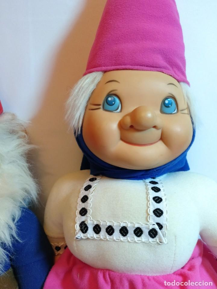 Muñecas Españolas Modernas: Pareja de muñecos de Trapo,Lisa y David los Gnomos.Quiron años 80 - Foto 3 - 184933250