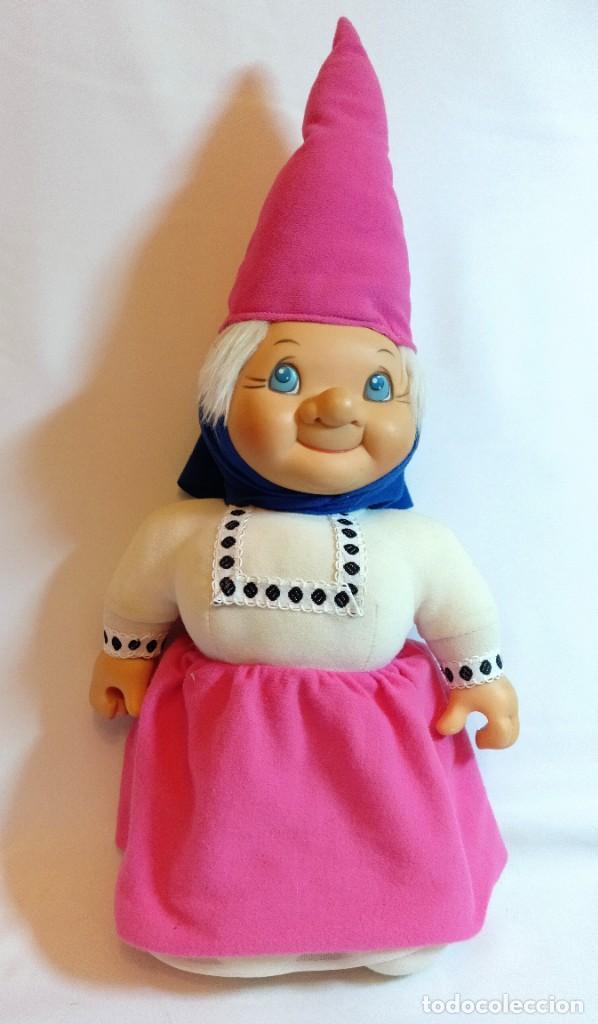 Muñecas Españolas Modernas: Pareja de muñecos de Trapo,Lisa y David los Gnomos.Quiron años 80 - Foto 4 - 184933250