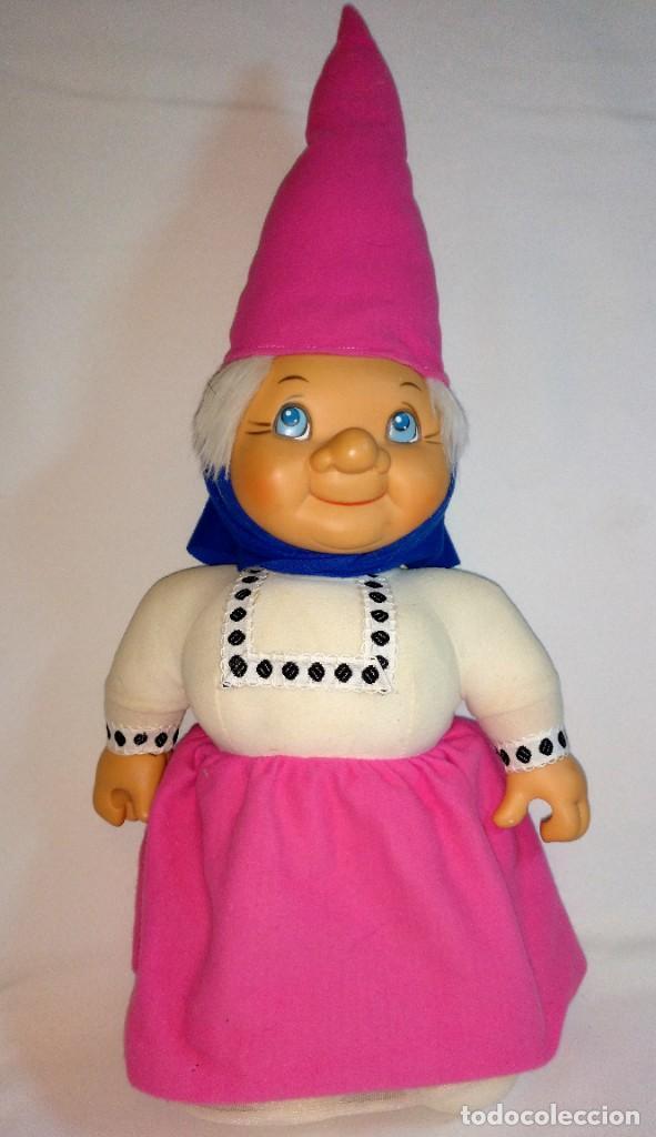 Muñecas Españolas Modernas: Pareja de muñecos de Trapo,Lisa y David los Gnomos.Quiron años 80 - Foto 8 - 184933250