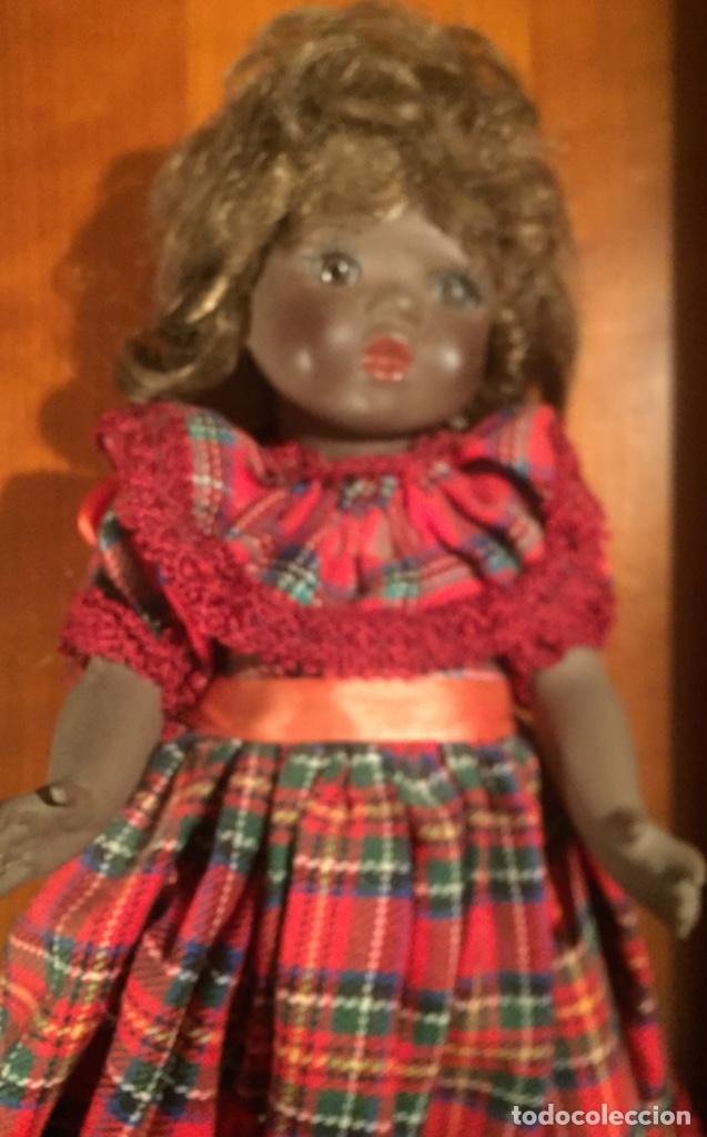 Muñecas Españolas Modernas: Preciosa muñeca negrita toda de terracota 30cm años setanta - Foto 3 - 185699350