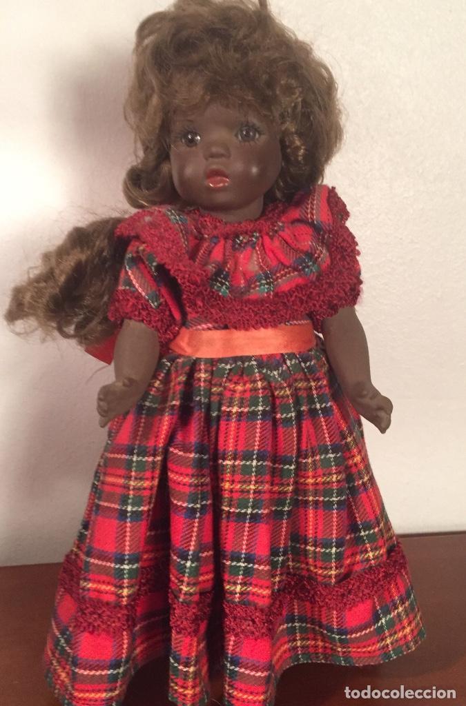 Muñecas Españolas Modernas: Preciosa muñeca negrita toda de terracota 30cm años setanta - Foto 5 - 185699350