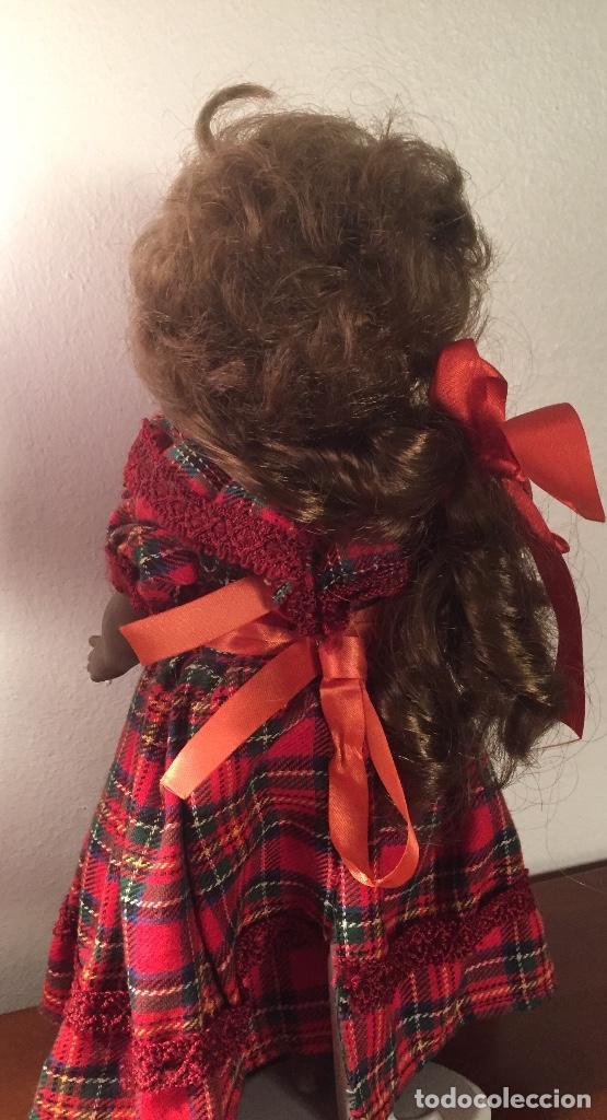 Muñecas Españolas Modernas: Preciosa muñeca negrita toda de terracota 30cm años setanta - Foto 6 - 185699350