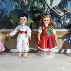 Muñecas Españolas Modernas: LOTE MUÑECAS REGIONALES 8/13 CM. Lote 187301272