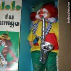 Muñecas Españolas Modernas: PAYASO LOLO,EN SU CAJA ORIGINAL,AÑOS 70-80,BUEN ESTADO APARENTE.MIDE 53 CMS.. Lote 191528138