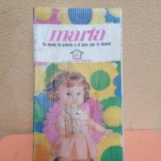 Muñecas Españolas Modernas: MUÑECA MARTA. Lote 193939565