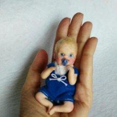 Muñecas Españolas Modernas: MUÑECO BEBE REBORN MINIATURA - OOAK BABY. Lote 194497856