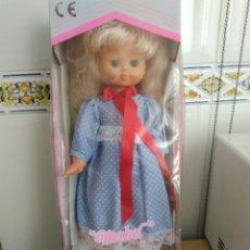 Muñecas Españolas Modernas: MUÑECA MABEL NUEVA SIN USO EN CAJA ORIGINAL 45 CM HABLADORA. Lote 194925021