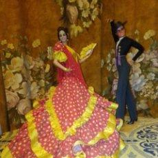 Muñecas Españolas Modernas: ANTIGUA PAREJA FLAMENCA DE MARÍN, DE CHICLANA.. Lote 195032588