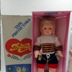 Muñecas Españolas Modernas: MUÑECA MUÑECO DULZÓN DE BB AÑOS-80 DE ALMACÉN FUNCIONA-N° 2 . Lote 195345565