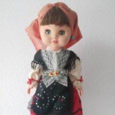 Muñecas Españolas Modernas: MUÑECA CON TRAJE REGIONAL REGIONAL CASTELLANO. Lote 195369542
