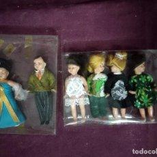 Muñecas Españolas Modernas: LOTE DE 6 MUÑEQUITAS DE PLÁSTICO O PVC, ANTIGUAS O VINTAGE, EN CAJAS. Lote 195385258