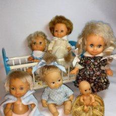 Muñecas Españolas Modernas: MUÑECOS JESMAR DE LOS 70.GRAN FAMILIA DE PEQUEÑOS MUÑECOS DE JESMAR. Lote 199378867